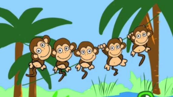 5 monkies